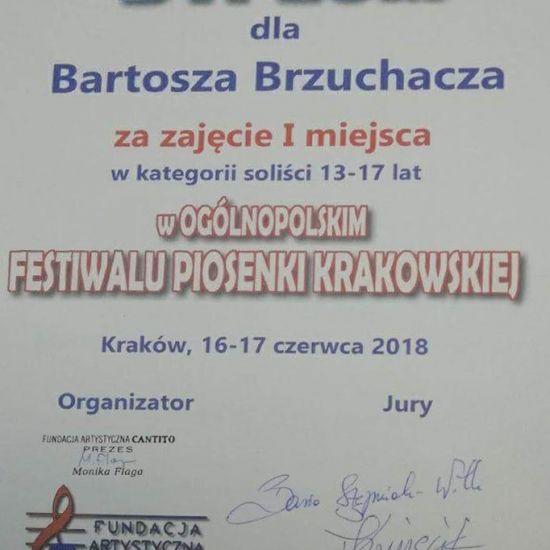 I nagroda dla Bartosza Brzuchacza